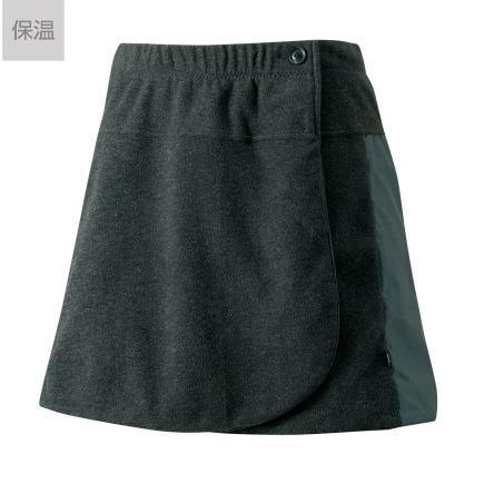 パールイズミ 女性用 W756 リバーシブル フリース スカート 【2.ブラック】