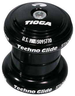 TIOGA ヘッドセットヘッド(ネジなし)テクノ グライド 1-1/8インチブラック 送料無料 沖縄・離島は追加送料かかります