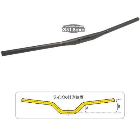 TIOGA ロングホーンカーボン20 フラットバー 750mm 31.8mm 【送料無料】(沖縄・離島を除く)