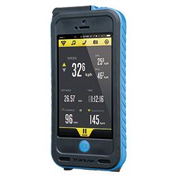 TOPEAK ウェザープルーフ ライドケース (iPhone 5/5S用/パワーパック内蔵)セット ブルー 自転車用 【送料無料】(沖縄・離島を除く)