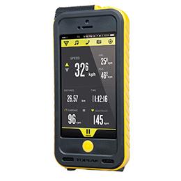 TOPEAK トピーク ウェザープルーフ ライドケース (iPhone 5/5S用/パワーパック内蔵)セット イエロー 自転車用 【送料無料】(沖縄・離島を除く)