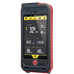 TOPEAK トピーク ウェザープルーフ ライドケース (iPhone 5/5S用/パワーパック内蔵)セット レッド 自転車用 【送料無料】(沖縄・離島を除く)