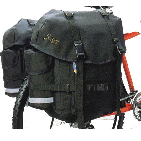 オーストリッチ サイドバッグ S-83 ペア ブラック 自転車 【送料無料】(沖縄・離島を除く)