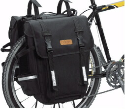 オーストリッチ パニアバッグ 特大 ペア ブラック 自転車 送料無料 沖縄・離島は追加送料かかります