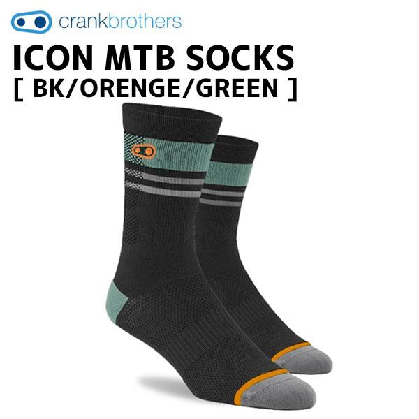 クランクブラザーズ 新品未使用 サイクルウェア 靴下 高い通気性 crank brothers ソックス ICON MTB 自転車 GREEN ブラック 激安格安割引情報満載 BK ORENGE オレンジ グリーン SOCKS