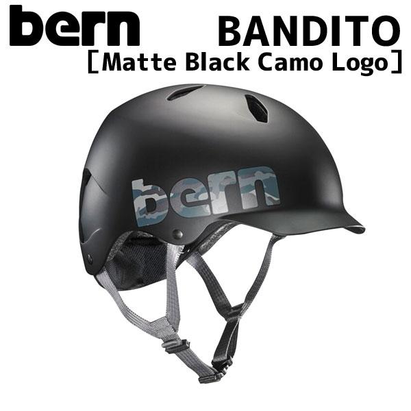 BERN 新作 大人気 キッズ ジュニア 3歳-児童 ヘルメット ブランド激安セール会場 バーン BANDITO Matte Black バンディート Camo 自転車 Logo