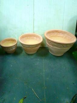 ファクトリーアウトレット 陶器鉢テラコッタD3969AC3鉢セット 春の新作シューズ満載