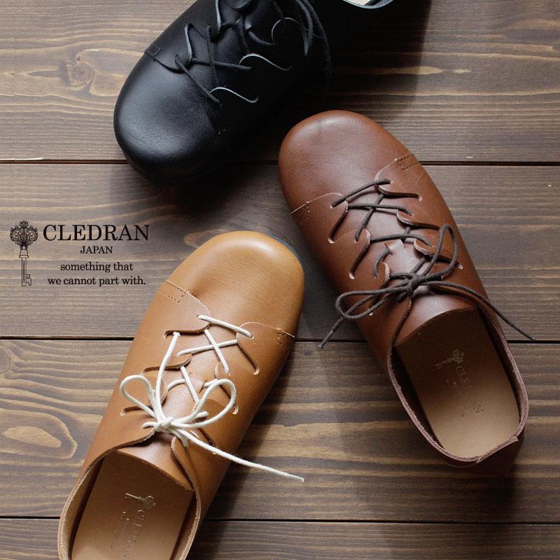 【メッセージカード・ラッピング無料】CLEDRAN(クレドラン)BRAID オイルレザーシューズ 本革 革 靴 レースアップ CL2957 OILED BRAID LACE SHOE