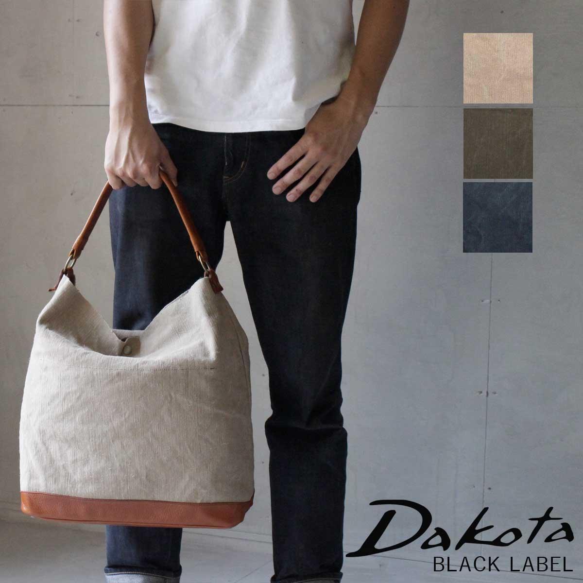 【選べるノベルティ大好評】Dakota BLACK LABEL ダコタブラックレーベル セルビッヂ ワンショルダーバッグ ジュート×牛革 1620291【日本製】【A4】