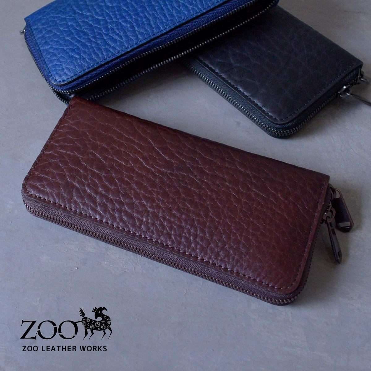 c82f41129e05 ZOO(ズー) ブルハイド 牛革 メンズ ラウンドファスナー長財布 zlw-071 希少なブルハイドレザーを使用した贅沢な財布 。肉厚でワイルドなシボが特徴的ラウンドファスナー ...