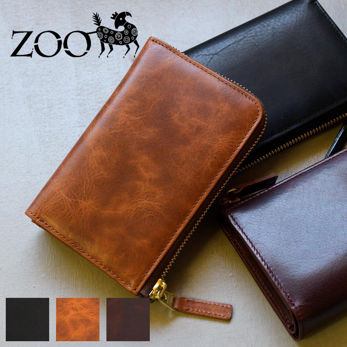 ZOO(ズー) オイルソフトレザー 牛革 メンズ L字ファスナー財布 二つ折り財布 イーグルミディアムウォレット zmw-001