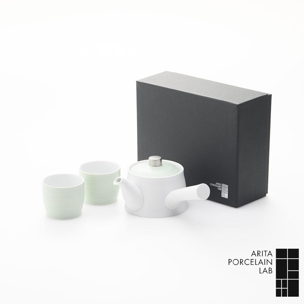 和食器 急須 湯呑 JAPAN TEA デザイン 急須 1個 湯呑 2個 パールグリーン 化粧箱 和食器 セット 和モダン ブランド 食器 食器ギフト アリタポーセリンラボ