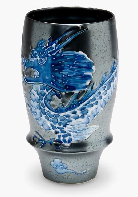 マイルドな泡立ちを実感 ご注文で当日配送 有田焼 匠の蔵 皇帝龍 文山窯 AL完売しました プレミアムビアグラス