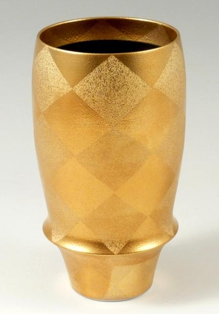 マイルドな泡立ちを実感 有田焼 公式 匠の蔵 引出物 錦右エ門 金 オリジナル プレミアムビアグラス 菱紋彩