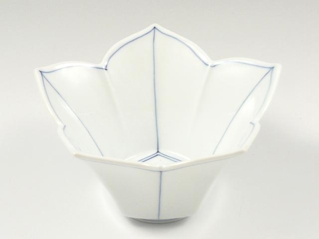 食卓を彩る新感覚の有田焼 有田 波佐見焼 洸琳窯 桔梗筋桔梗型 正規品 超特価 青 小鉢