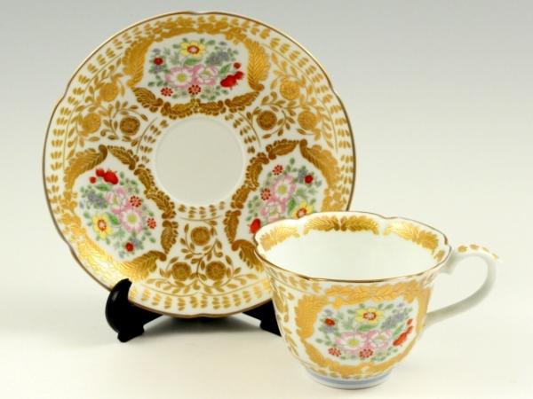 有田焼 幸楽窯 ベルサイユ(白) コーヒーカップ&ソーサー【珈琲碗皿】