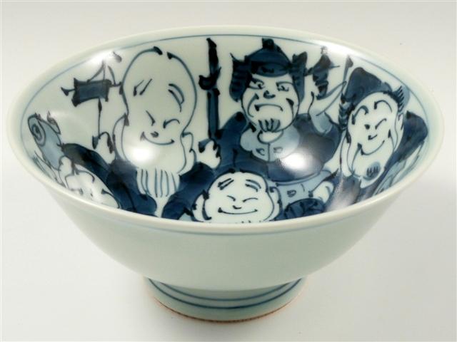有田焼の大ぶりの茶碗でプチ贅沢 父の日ギフト 有田焼 七福神 祝日 特大茶碗 盛窯 春の新作