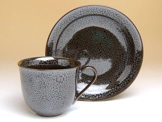 コーヒーカップ ソーサー セット 木箱入り 有田焼 波佐見焼 油滴天目 コーヒー碗皿