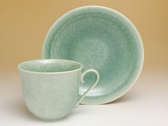 コーヒーカップ ソーサー セット 木箱入り 有田焼 波佐見焼 鶯玉 コーヒー碗皿