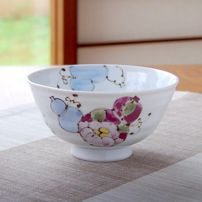 おしゃれ 有田焼 波佐見焼 の茶碗 5☆好評 ごはん茶碗 贈り物としてギフトラッピングも承ります 茶碗 めし碗 青 花六瓢 お得