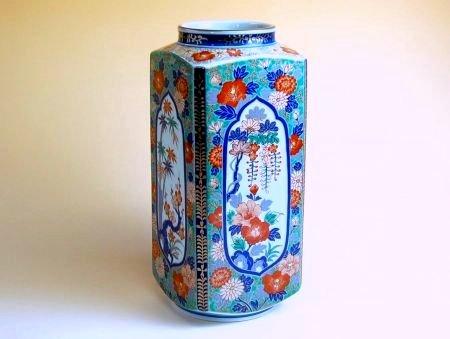 【有田焼】古伊万里芙蓉 角花瓶【あす楽対応商品】(月~土)※13時までのご注文で翌日お届けが可能です