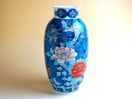 【有田焼】濃梅牡丹(小)花瓶【あす楽対応商品】(月~土)※13時までのご注文で翌日お届けが可能です