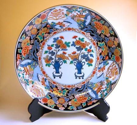 【有田焼・波佐見焼】金襴菊那 尺3寸皿(39cm)【あす楽対応商品】(月~土)※13時までのご注文で翌日お届けが可能です