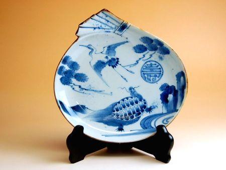 飾り皿 陶器 木箱入り 贈答用 有田焼 波佐見焼 長寿鶴亀紋 福袋皿