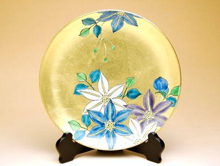 飾り皿 陶器 木箱入り 贈答用 有田焼 波佐見焼 金襴手(金箔)鉄仙花 6寸飾皿