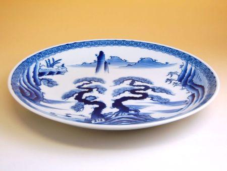 和食器 お皿 大皿 おしゃれ 有田焼 波佐見焼 山水 13寸平皿