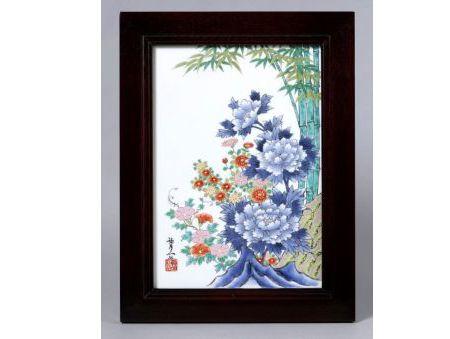 【有田焼・波佐見焼】花の季節 陶額【あす楽対応商品】(月~土)※13時までのご注文で翌日お届けが可能です