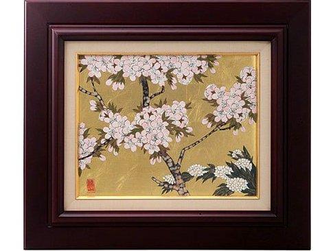 陶額 飾り皿 贈答用 有田焼 波佐見焼 金襴手(金箔)桜(大)