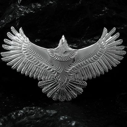 アリゾナフリーダム シルバーアクセサリー ペンダント トップ 【NO.25】 ALL シルバー 大 イーグル トップ 素材: SV925 【EagleTop】