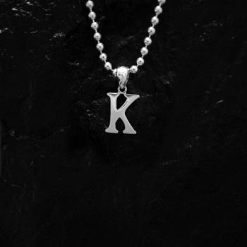 ARIZONA FREEDOM シルバーアクセサリー ペンダント トップ 【NO.105】 アルファベット トップ K (小) 素材: SV925 【AlphabetTop】