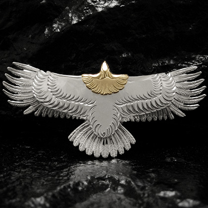 アリゾナフリーダム シルバーアクセサリー ペンダント トップ 【NO.120】 New イーグル トップ (大) 素材: SV925 K18 【EagleTop】