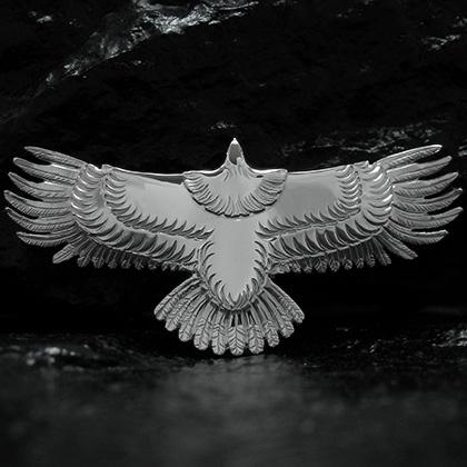 アリゾナフリーダム シルバーアクセサリー ペンダント トップ 【NO.120】 ALL シルバー New イーグル トップ (大) 素材: SV925 【EagleTop】