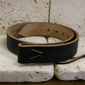 ARIZONA FREEDOM シルバーアクセサリー レザー 【NO.24】 6mm厚 革 ベルト ( 黒 ・ WAX )【LeatherBelt】