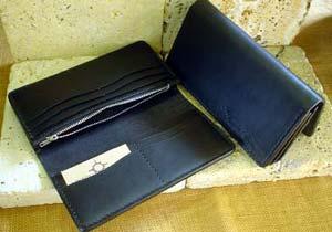 ARIZONA FREEDOM シルバーアクセサリー レザー 【NO.7】 ロング レザー ウォレット ( 黒 ) 素材: 牛革 【LeatherWallet】