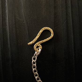 ARIZONA FREEDOM ゴールドアクセサリー Gold 留め具 【NO.29】 ゴールド 唐草入り Sフック 素材: K18 【GoldTop】