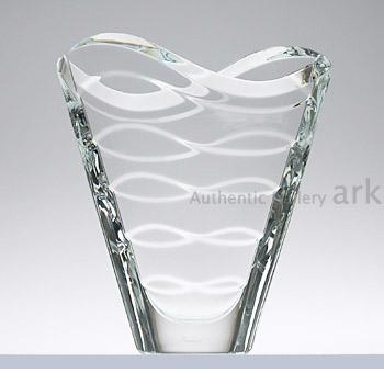バカラ Baccarat ベース(花瓶) 2102-668 ウェーブ