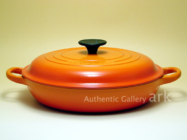 【正規代理店品】 ル・クルーゼ ビュッフェキャセロール 26cm オレンジ 両手鍋 Le Creuset