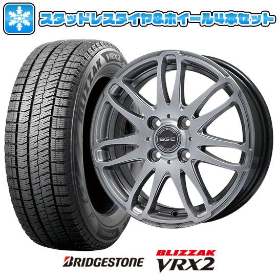 ?送料無料? スタッドレスタイヤ ホイール4本セット BRIDGESTONE ブリヂストン ブリザック VRX2 175/65R14 14インチ BRANDLE ブランドル G72 5.5J 5.50-14