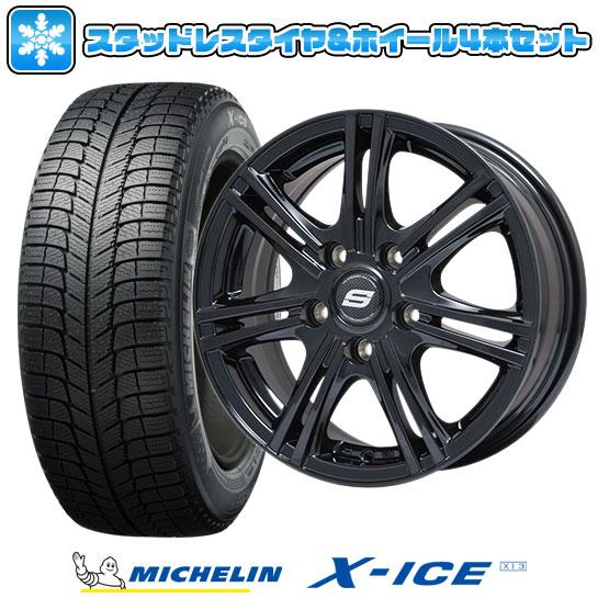 ?送料無料 5穴/114? スタッドレスタイヤ ホイール4本セット MICHELIN ミシュラン X-ICE XI3 215/70R15 15インチ BRANDLE ブランドル M68B 6J 6.00-15