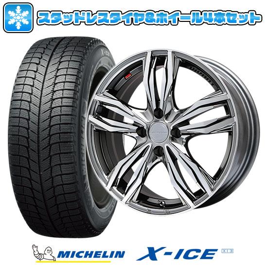 ?送料無料 4穴/100? スタッドレスタイヤ ホイール4本セット MICHELIN ミシュラン X-ICE XI3 185/55R16 16インチ LEHRMEISTER レアマイスター ヴィヴァン(BMCポリッシュ) 6.5J 6.50-16