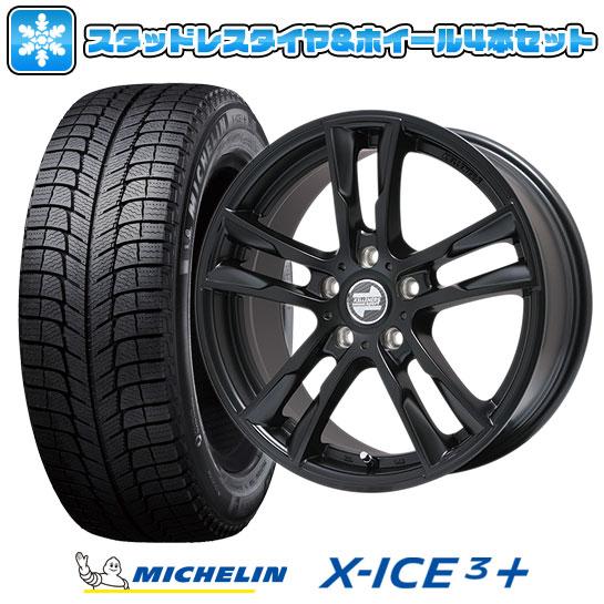?送料無料 BMW3シリーズ(E90)? スタッドレスタイヤ ホイール4本セット 輸入車 MICHELIN ミシュラン X-ICE 3プラス 205/55R16 16インチ KELLENERS ケレナーズスポーツ ケレナーズJr E5(マットブラック) 7J 7.00-16