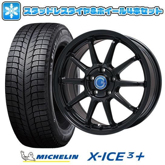?送料無料 5穴/114? スタッドレスタイヤ ホイール4本セット MICHELIN ミシュラン X-ICE 3プラス 235/50R18 18インチ BRANDLE-LINE ブランドルライン カルッシャー ブラック 7.5J 7.50-18