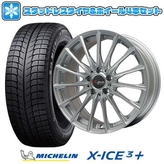 【取付対象】 ?送料無料 VW(パサート)? スタッドレスタイヤ ホイール4本セット 輸入車 MICHELIN ミシュラン X-ICE 3プラス 235/45R18 18インチ EUROTECH ユーロテック Rスポーツ(シルバー) 8J 8.00-18