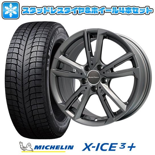 ?送料無料 VW(ザ・ビートル)? スタッドレスタイヤ ホイール4本セット 輸入車 MICHELIN ミシュラン X-ICE 3プラス 215/60R16 16インチ EUROTECH ユーロテック ガヤ ソリ(マットチタニウム) 6.5J 6.50-16