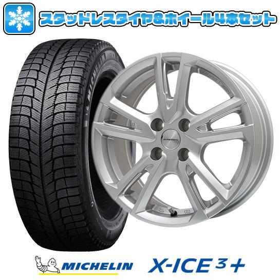 ?送料無料 プジョー3008? スタッドレスタイヤ ホイール4本セット 輸入車 MICHELIN ミシュラン X-ICE 3プラス 215/60R16 16インチ EUROTECH ユーロテック ガヤ ソリ(シルバー) 6.5J 6.50-16