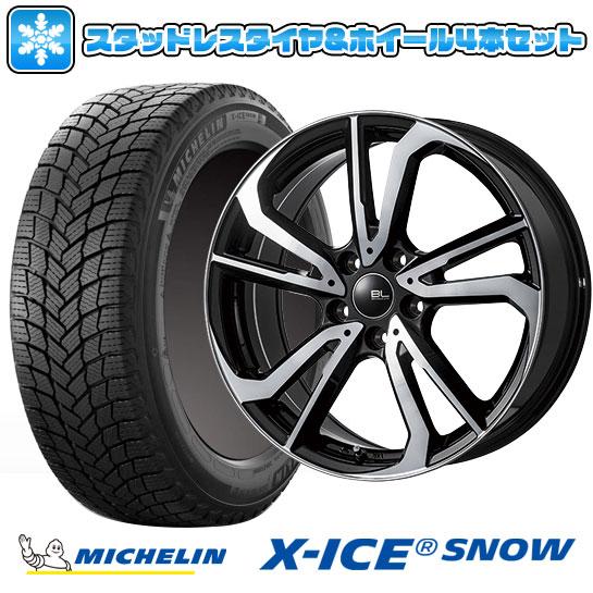 送料無料 MICHELIN X-ICE SNOW 215 50R17 17インチ スタッドレスタイヤ ホイール4本セット 取付対象 高額売筋 7J レツィオ セールSALE%OFF BRANDLE-LINE 114 ブランドルライン パールブラックポリッシュ 7.00-17 5穴 ミシュラン